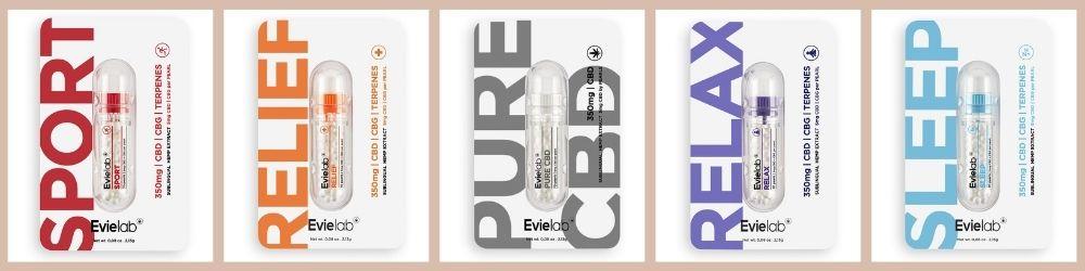Les perles de CBD CBG Evielab une innovation